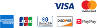 Square VISA AMERICAN EXPRESS JCB Diners Club DISCOVER